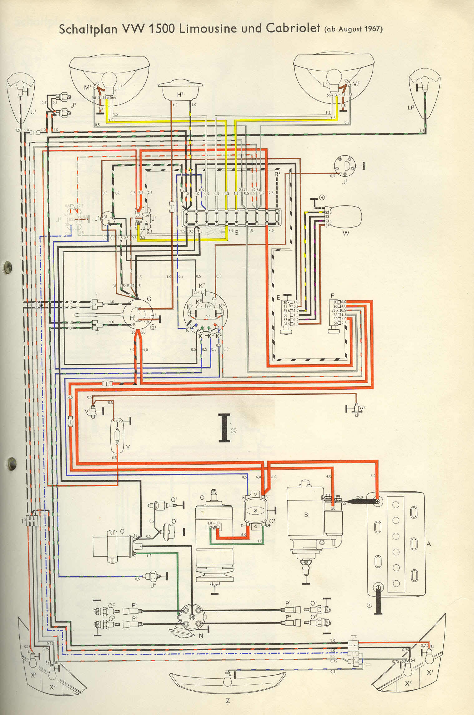 Vw Turn Signal Wiring Diagram Great Design Of 1970 67